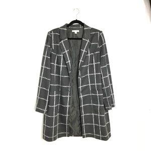 Gato Grey Window Pane Plaid Coat Size Large